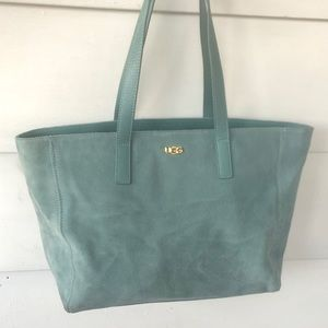 UGG Rae Blue Suede Tote Bag